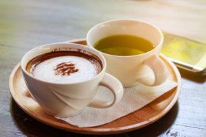 コーヒーと緑茶